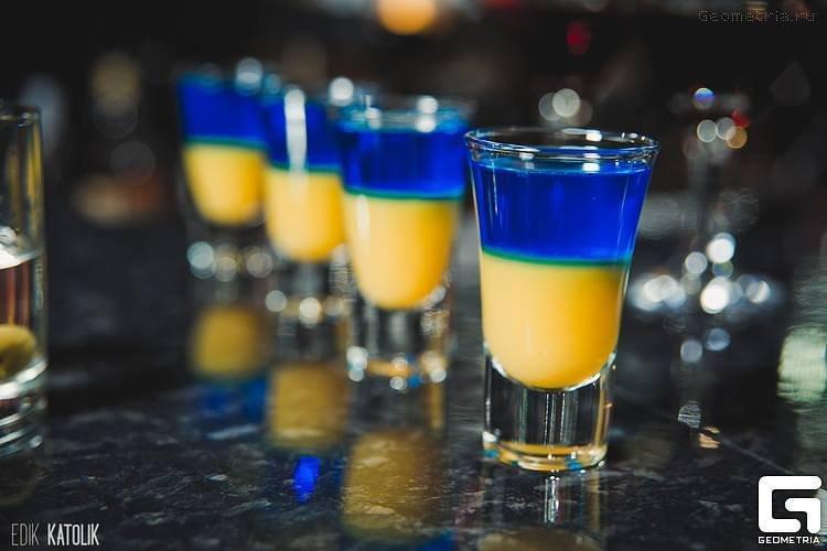 Кулинарный мастер-класс в Киеве патриотический коктейль
