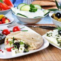 Viator Photo ID: 39933 / Orig name: Greece_TypicalGreekDishes_Thinkstock158791285.jpg / Source Type: Thinkstock / Source ID: 158791285 / Tags: Food and Drink, Food, Greece, Greek, Dishes, Gyro, Pita, Dolma, Feta, Salad, Olives / Uploaded by: import / Edited by: klinn /